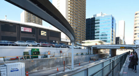 View of 8th St project