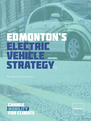 Edmonton Electric Vehicle promotion poster